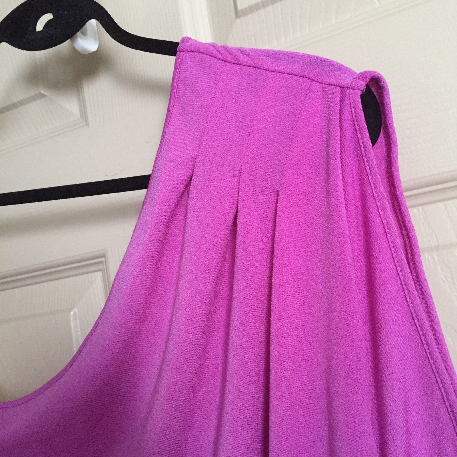 Express Women Top Blouse Size Large Pink One Shoulder One Sleeve Trendy New image 5