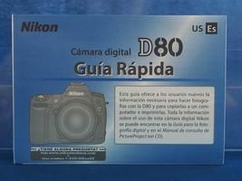 Canon D80 Digital Camera Spanish Instruction Manual dq - $29.25