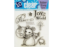 Impression Obsession Peace on Earth Clear Cling Stamp Set #MC142, Mouse