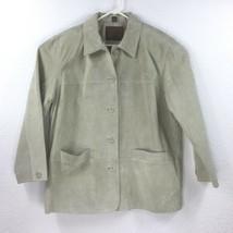 St.John's Bay Women Size XL Genuine Leather Beige Jacket Lined inside - €27,57 EUR