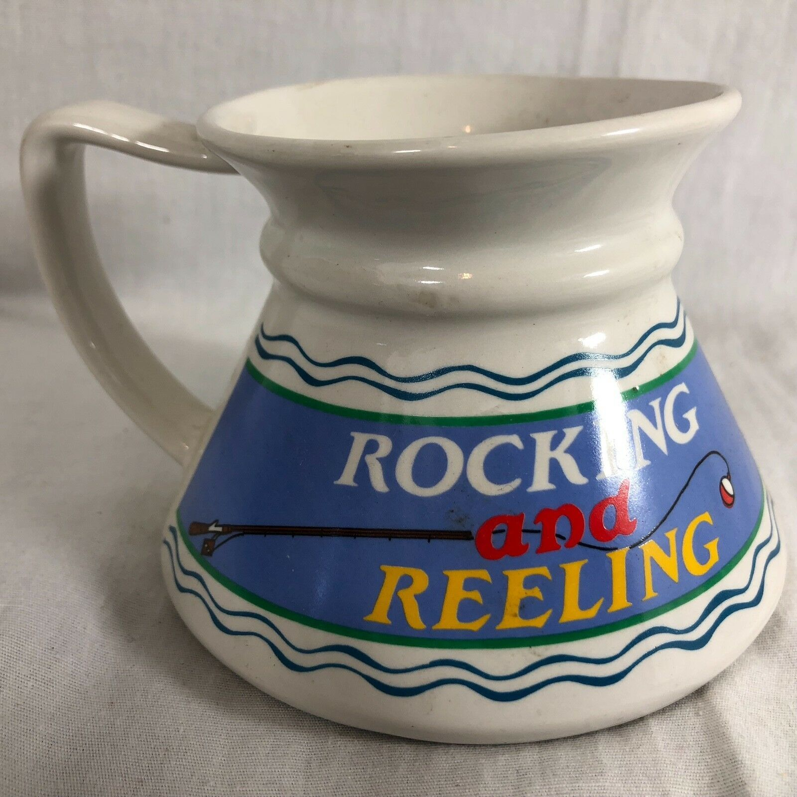 "Primary image for Rocking & Reeling Cup Mug Bottom Heavy 4.75"" diam 3.75"" Tall"