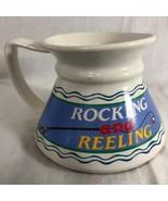 "Rocking & Reeling Cup Mug Bottom Heavy 4.75"" diam 3.75"" Tall - $8.41"