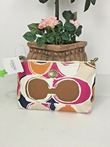 Coach Park Hand Drawn Scarf Travel Cosmetic Pouch F77421 MultiColor M6 - $59.39