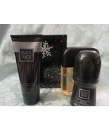 AVON BLACK SUEDE GIFT SET 3 PIECE LESS THAN COLOGNE SPRAY PRICE GREAT DEAL - $9.99