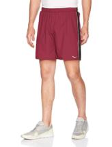 """XL Saucony Men's Sprint 7"""" Woven Shorts Lightweight Stretch Short, Zinfandel NEW"""