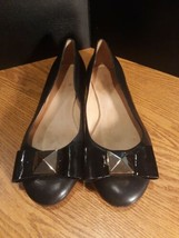 Kate Spade Black Leather Bow Ballet Flats Size 6M 6 M - $51.98