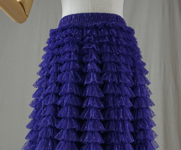 Tulle skirt purple dot 6