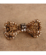 Vintage Miriam Haskell Brooch - filigree bow - hand wired glass pearls -... - $110.00
