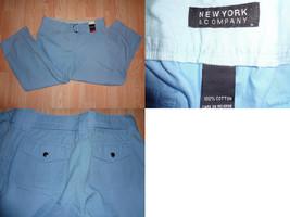 Women's New York & Co. Sz 8 NWT Light Blue Crop Pants W/ Matching Belt - $9.49