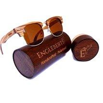 Real Ebony and ZebraWood Sunglasses With Bamboo Case, Tea Colored Polari... - $57.99