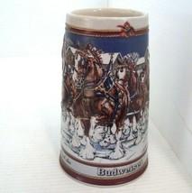 Budweiser Vintage 1989 Beer Stein Mug Clydesdale B Series Ceramarte Hand... - $26.68