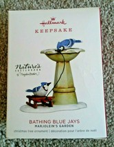 2018 Hallmark Keepsake Marjolein's Garden Bathing Blue Jays Ornament  - $12.99