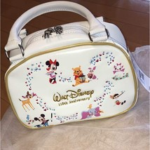 Disney × BRIDGESTONE110 th All Star Leather Accessory case bag Boston wh... - $460.35