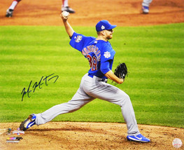 MIKE MONTGOMERY Signed Cubs 2016 World Series Game 7 Final Pitch 16x20 P... - $78.21