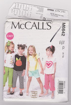 Pattern McCalls 6642 Girls Size 6 7 8 Tops Shorts Pants Easy, 2012 - $3.99