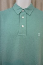 IZOD Mens Polo Shirt Sz S Malachite Green Jersey Cotton Blend Short Slee... - $19.71