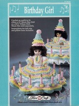 Birthday Girl, Fibre Craft Crochet Holiday Doll Clothing Pattern Booklet FCM210  - $3.95