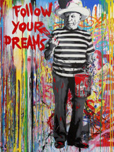 Mr Brainwash Banksy oil Painting on Canvas graffiti Follow your dreams 2... - $29.69
