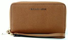 cc38ff09f93931 Michael Kors Luggage Brown Multi Function Jet Set Medium Purse Wallet Wr...  -