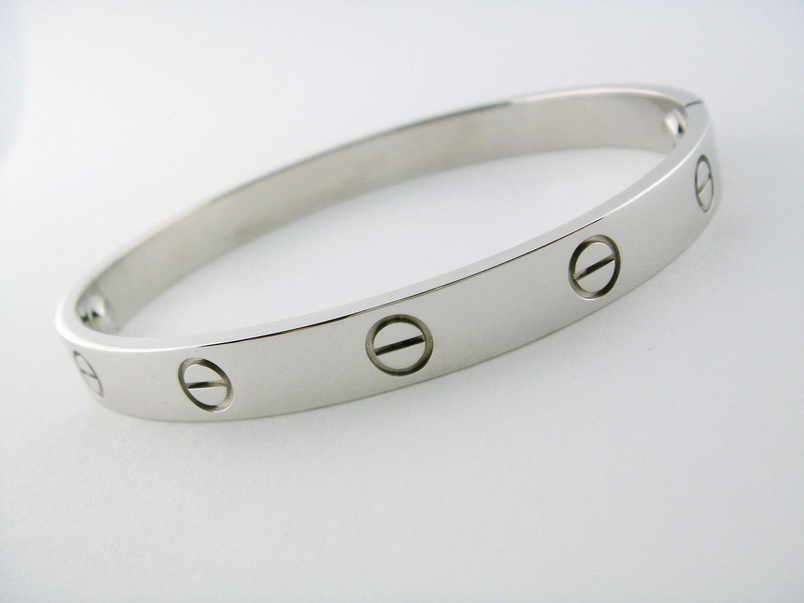 0352fa1742e23 Cartier Love Bracelet Bangle 18K White Gold and 20 similar items