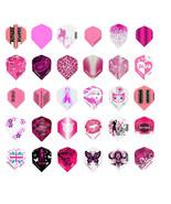 10 New Sets Ladies Standard Dart Flights Girl Variety Design Wholesale P... - $8.24