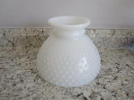 """Glass White Hobnail Lamp Shade - 8"""" bottom - $24.99"""