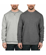 Island Sands Long Sleeve Revrsible Crewneck Sweater, Grey/Charcoal, M - $25.73