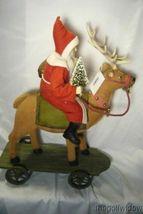 Bethany Lowe Vintage Santa Riding Reindeer image 6