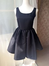 LITTLE BLACK DRESS Bubble Knee Length Sleeveless Princess Flare Party Dress  image 6