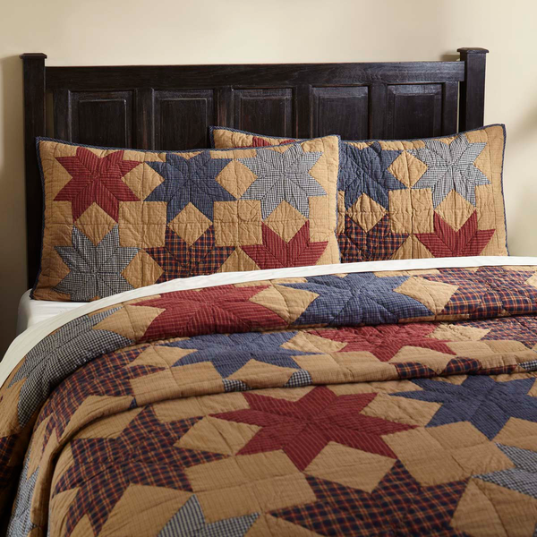 4-pc Kindred Star King Quilt Set - Patchwork King Sham and Accent Pillow - VHC