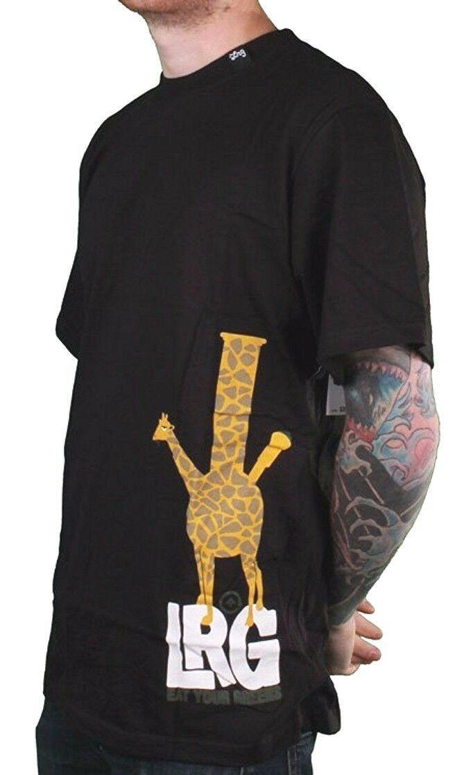LRG Black or White Eat Your Greens Giraffe Shaped Bong Rasta Safari T-Shirt NWT