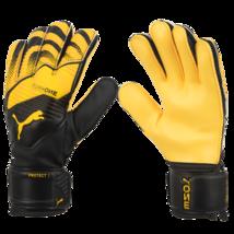 Puma One Protect 3 RC Goalkeeper Gloves GK Soccer Football Black/Yellow 04166002 - $65.99