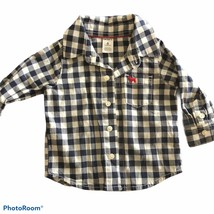 Baby Boy Carters Button Down Long Sleeve Shirt Size 6 Months - $5.00