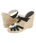 Nanette Lepore Swept Away Espadrille Wedge Seashell Sandals Mule 10 NIB - $44.06