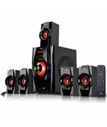 beFree Sound 5.1 Channel Surround Sound Bluetooth Speaker System- Red - $92.22