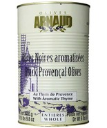Oil Cured Black Olives with Thyme of Provence, 6.6 Lb Can - $52.29