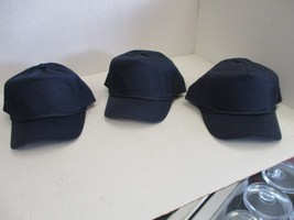 LOT OF 3 NEW-VINTAGE NAVY BLUE CAPS/HATS-5 PANEL-W/ROPE-SNAPBACK-GEORGE-... - $7.70