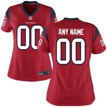 Women's Houston Texans Red Custom Name and Number Game Limited Stitched ... - $54.99