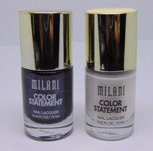 Lot Of 2 Milani Color Statement Nail Lacquer No.28 & 35 0.34 fl.oz/10ml - $8.42