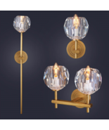 Boule de Cristal Single Sconce Brass & Crystal E14 Light Wall Lamp Home ... - $191.10+