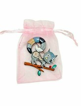 """2.25"""" Wide Large Enameled Gray Squirrel Brooch Pin """"C"""" Clasp Animal Jewelry - $12.83"""
