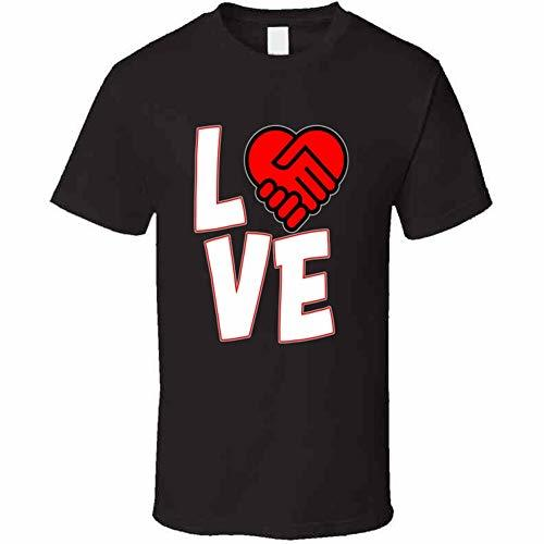 Love is A Deal Heart T Shirt L Dark Chocolate