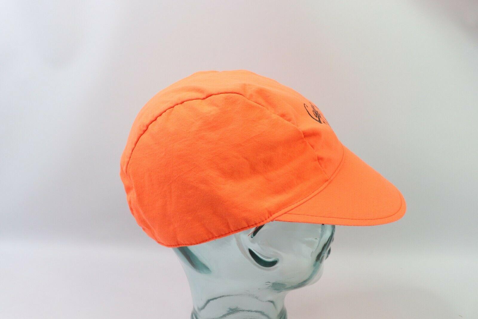 Vtg 90s Cayman Islands Spell Out Adjustable 3 Panel Floppy Brim Hat Neon Orange image 4