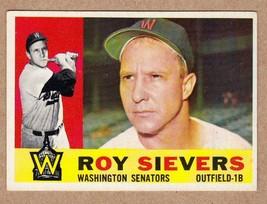 1960 Topps #25 Roy Sievers Washington Senators NM Near Mint condition - $5.31