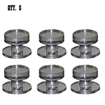 Clear Acrylic Stick-On Mirror Round Knob - Pack of 6 - $77.95