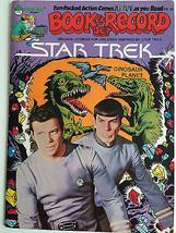 Star Trek Book & Record Set Dinosaur Planet Vintage1979 Audio Vinyl Book - $49.66