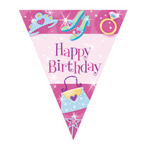 Amscan International Pennant Banner Princess #hfg - $7.39
