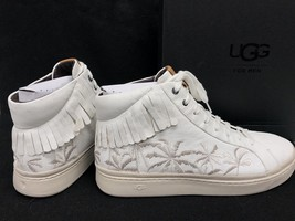 Ugg Australia Men's Cali Lace High Fringe Palms Sneakers Leather Lace Up... - $99.99