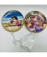 Avon Mothers Day Plates Set of 2 Years 2004 & 2005 with Easels - $19.99
