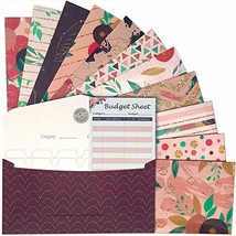 12 Laminated Budget Envelopes and Tracking Sheets | Money Holder and Bil... - $15.99